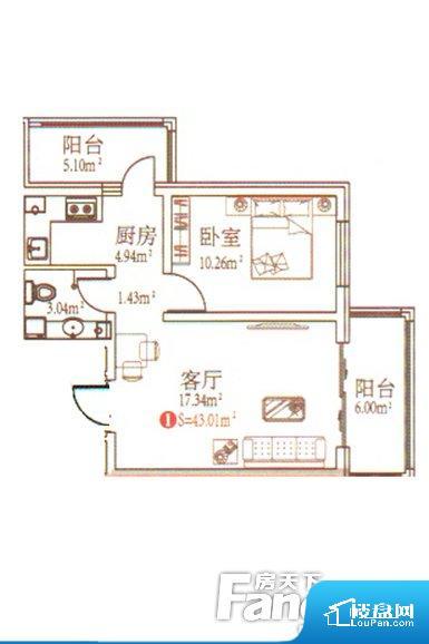 整个空间方正,拐角少,后期利用难度低,提升整个空间的利用率。无穿堂风,室内空气无法对流,会导致过于潮湿或者干燥。无对外窗户,通风采光较差,卫生间湿气会加重,不利于身体健康。卫生间门朝向人较多的区域,导致区域空气不好,舒适度差。卧室作为较为重要的休息空间,尺寸合适,有利于主人更好的休息;客厅作为重要的会客空间,尺寸合适,能够保证主人会客需求。卫生间和厨房作为重要的功能区间,尺寸合适,能够很好的满足主