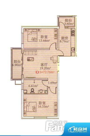 整个空间方正,拐角少,后期利用难度低,提升整个空间的利用率。全明户型,每一个空间都带有窗户,保证后期居住时能够充分采光和透气;通透户型,保证空气能够流通起来,空气质量较好;采光较好,保证居住舒适度。卧室门朝向客厅,外人可以一目了然的看到卧室,私密性较差。各个功能区间面积大小都比较合理,后期使用起来比较方便,居住舒适度高。公摊相对合理,一般房子公摊基本都在此范畴。日常使用基本满足。