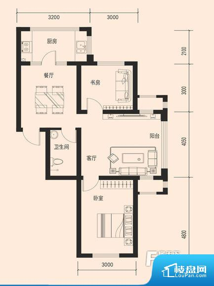 各个空间方正,后期空间利用率高。卫生间无对外窗户,采光不好,不利于后期使用过程中的排风透气。卫生间门朝向人较多的区域,导致区域空气不好。客厅、卧室、卫生间和厨房等主要功能间尺寸以及比例合适,方便采光、通风,后期居住方便。