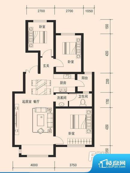 各个空间都很方正,方便后期家具的摆放。全明通透的户型,居住舒适度较高。整个空间有充足的采光,这一点对于后期居住,尤其重要。整个户型空间布局合理,真正做到了干湿分离、动静分离,方便后期生活。