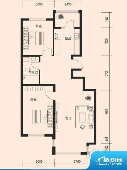 整个空间方正,拐角少,后期利用难度低,提升整个空间的利用率。卫生间如没有窗子,可加管道通风,但是相对来说卫生间有窗户是好的情况,利于排湿,不会使湿气进到室内。各个功能区间面积大小都比较合理,后期使用起来比较方便,居住舒适度高。