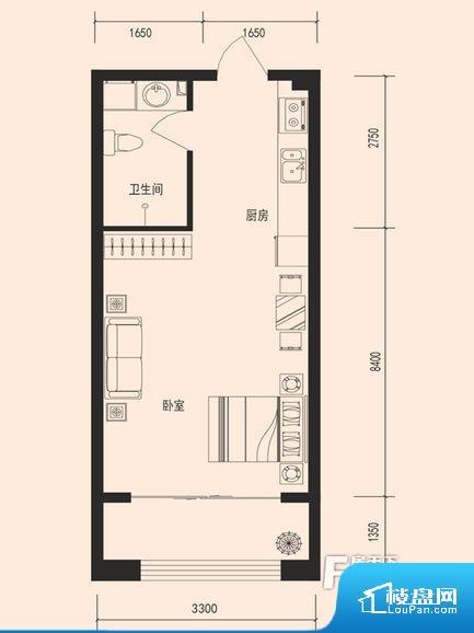 整个空间方正,拐角少,后期利用难度低,提升整个空间的利用率。卫生间无对外窗户,采光不好,不利于后期使用过程中的排风透气。厨房门对着客厅会有油烟方面的困扰,不过通风好也可以忽略。