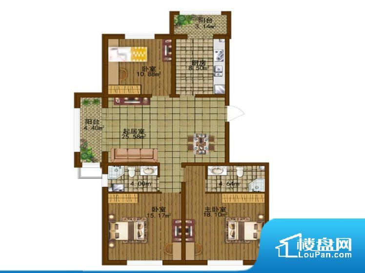 各个空间方正,后期空间利用率高。整个空间采光很好,主卧和客厅均能够保证很好的采光;并且能真正做到全明通透,整个空间空气好。卫生间作为重要的空间,距离较远,不方便主人使用。客厅、卧室、卫生间和厨房等主要功能间尺寸以及比例合适,方便采光、通风,后期居住方便。公摊高于15%且低于25%,整体得房率不算太高。