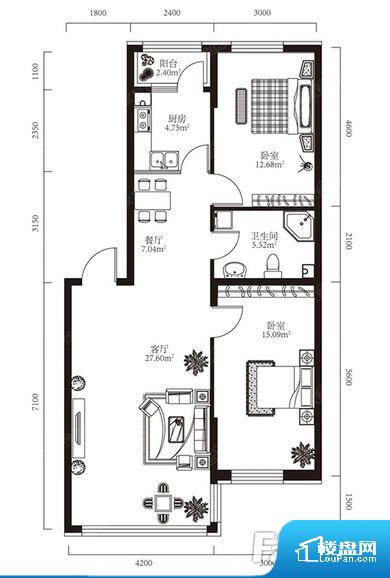 各个空间都很方正,方便后期家具的摆放。卫生间无对外窗户,采光不好,不利于后期使用过程中的排风透气。厨卫等重要的使用较为频繁的空间布局合理,方便使用,并且能够保证整个空间的空气质量。卧室作为较为重要的休息空间,尺寸合适,有利于主人更好的休息;客厅作为重要的会客空间,尺寸合适,能够保证主人会客需求。卫生间和厨房作为重要的功能区间,尺寸合适,能够很好的满足主人生活需求。公摊相对合理,一般房子公摊基本都在