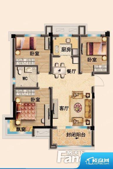 各个空间都很方正,方便后期家具的摆放。整个空间采光很好,主卧和客厅均能够保证很好的采光;并且能真正做到全明通透,整个空间空气好。厨房门朝向客厅,做饭时油烟对客厅影响较大。卧室作为较为重要的休息空间,尺寸合适,有利于主人更好的休息;客厅作为重要的会客空间,尺寸合适,能够保证主人会客需求。卫生间和厨房作为重要的功能区间,尺寸合适,能够很好的满足主人生活需求。公摊相对合理,一般房子公摊基本都在此范畴。日
