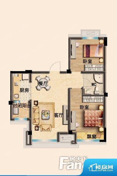 各个空间都很方正,方便后期家具的摆放。卫生间无对外窗户,采光不好,不利于后期使用过程中的排风透气。厨房门朝向客厅,做饭时油烟对客厅影响较大。卧室作为较为重要的休息空间,尺寸合适,有利于主人更好的休息;客厅作为重要的会客空间,尺寸合适,能够保证主人会客需求。卫生间和厨房作为重要的功能区间,尺寸合适,能够很好的满足主人生活需求。公摊相对合理,一般房子公摊基本都在此范畴。日常使用基本满足。