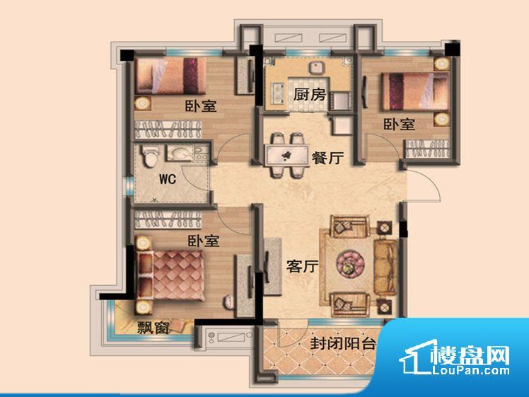 整个空间方正,拐角少,后期利用难度低,提升整个空间的利用率。全明户型,每一个空间都带有窗户,保证后期居住时能够充分采光和透气;通透户型,保证空气能够流通起来,空气质量较好;采光较好,保证居住舒适度。客厅、卧室、卫生间和厨房等主要功能间尺寸以及比例合适,方便采光、通风,后期居住方便。