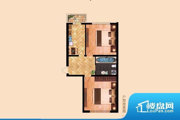 主要活动区域,不能留出摆放家具的完整空间,使用率相对较低。卫生间无对外窗户,采光不好,不利于后期使用过程中的排风透气。