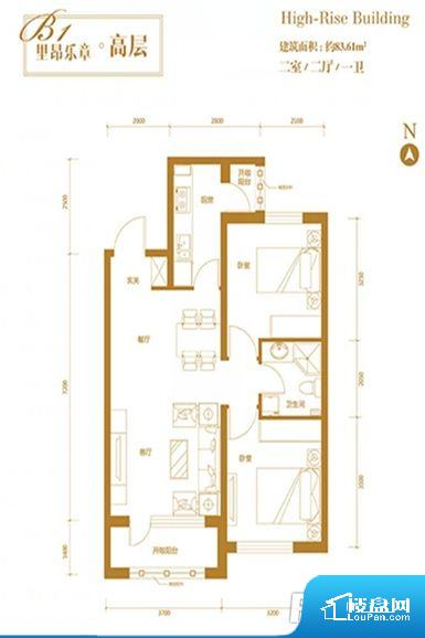 各个空间都很方正,方便后期家具的摆放。卫生间无对外窗户,采光不好,不利于后期使用过程中的排风透气。卫生间朝向客厅私密性较差,卫生间朝向餐厅、客厅产生的气味及细菌对餐厅影响较大,卫生间朝向卧室,产生的气味对卧室有影响。客厅作为重要的会客空间,尺寸合适,能够保证主人会客需求。