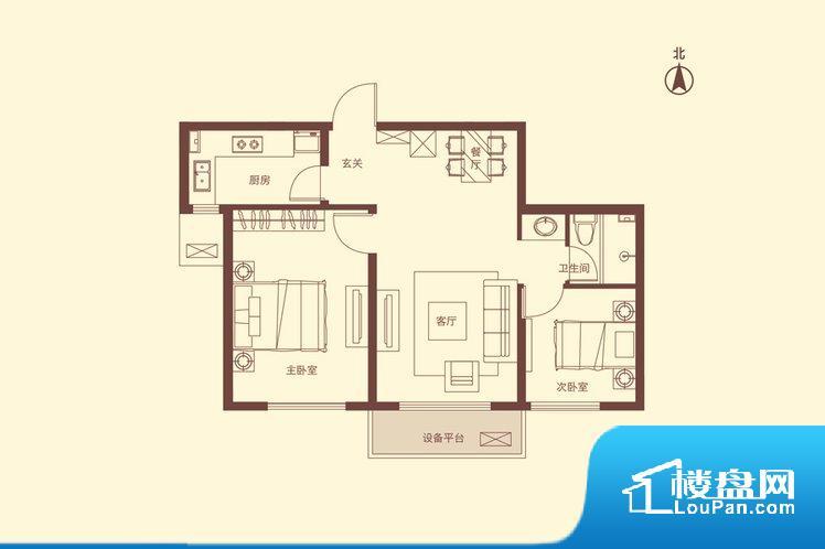 各个空间都很方正,方便后期家具的摆放。不通风,南方会非常潮湿,特别是在雨季。而北方干燥会加重干燥的情况。卫生间无对外窗户,采光不好,不利于后期使用过程中的排风透气。厨卫等重要的使用较为频繁的空间布局合理,方便使用,并且能够保证整个空间的空气质量。卧室作为较为重要的休息空间,尺寸合适,有利于主人更好的休息;客厅作为重要的会客空间,尺寸合适,能够保证主人会客需求。卫生间和厨房作为重要的功能区间,尺寸合