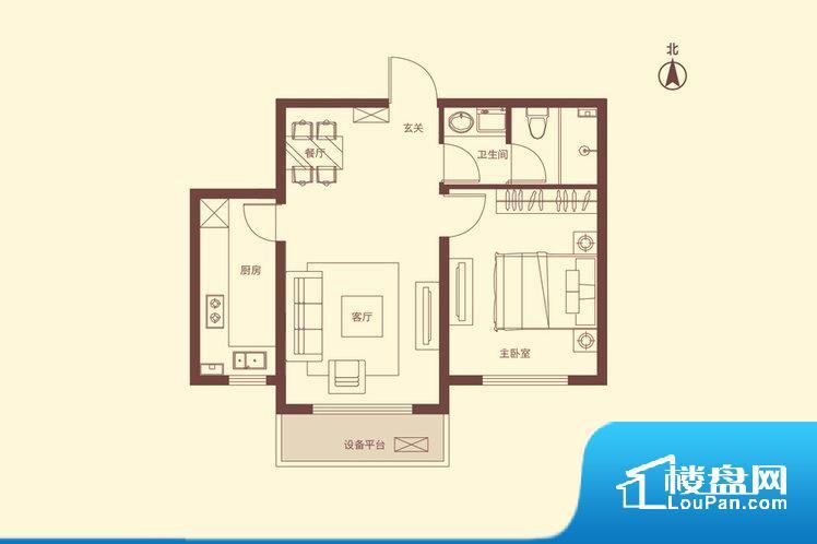 各个空间都很方正,方便后期家具的摆放。无穿堂风,室内空气无法对流,会导致过于潮湿或者干燥。无对外窗户,通风采光较差,卫生间湿气会加重,不利于身体健康。厨卫等重要的使用较为频繁的空间布局合理,方便使用,并且能够保证整个空间的空气质量。卧室作为较为重要的休息空间,尺寸合适,有利于主人更好的休息;客厅作为重要的会客空间,尺寸合适,能够保证主人会客需求。卫生间和厨房作为重要的功能区间,尺寸合适,能够很好的