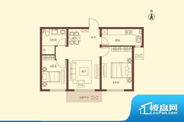 各个空间方正,后期空间利用率高。不通风,南方会非常潮湿,特别是在雨季。而北方干燥会加重干燥的情况。无对外窗户,通风采光较差,卫生间湿气会加重,不利于身体健康。卧室位置合理,能够保证足够安静,客厅的声音不会影响卧室的休息;卫生间位置合理,使用起来动线比较合理;厨房位于门口,方便使用和油烟的排出。客厅、卧室、卫生间和厨房等主要功能间尺寸以及比例合适,方便采光、通风,后期居住方便。公摊相对合理,一般房子