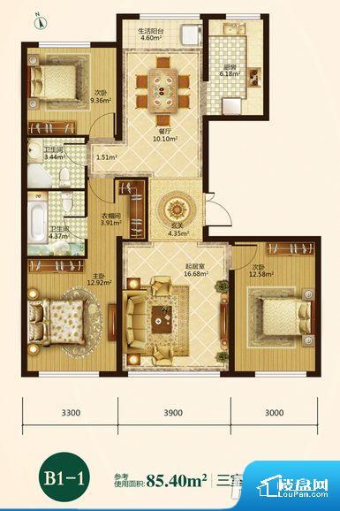 各个空间都很方正,方便后期家具的摆放。卫生间无对外窗户,采光不好,不利于后期使用过程中的排风透气。卧室门朝向客厅,外人可以一目了然的看到卧室,私密性较差。各个功能区间面积大小都比较合理,后期使用起来比较方便,居住舒适度高。公摊相对合理,一般房子公摊基本都在此范畴。日常使用基本满足。