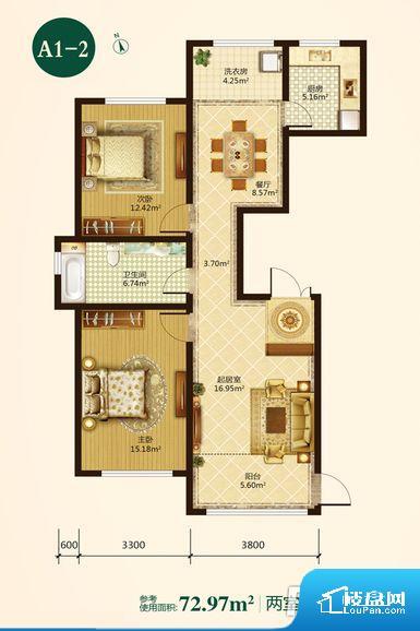 整个空间方正,拐角少,后期利用难度低,提升整个空间的利用率。全明通透的户型,居住舒适度较高。整个空间有充足的采光,这一点对于后期居住,尤其重要。卧室门朝向比较吵闹的区域,不利于主人休息。卧室作为较为重要的休息空间,尺寸合适,有利于主人更好的休息;客厅作为重要的会客空间,尺寸合适,能够保证主人会客需求。卫生间和厨房作为重要的功能区间,尺寸合适,能够很好的满足主人生活需求。公摊相对合理,一般房子公摊基