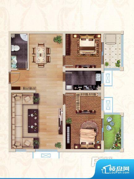 各个空间都很方正,方便后期家具的摆放。全明通透的户型,居住舒适度较高。整个空间有充足的采光,这一点对于后期居住,尤其重要。卧室位置合理,能够保证足够安静,客厅的声音不会影响卧室的休息;卫生间位置合理,使用起来动线比较合理;厨房位于门口,方便使用和油烟的排出。卫生间空间狭小,洗衣服洗澡空间上比较局促,影响居住的舒适度。公摊高于15%且低于25%,整体得房率不算太高。