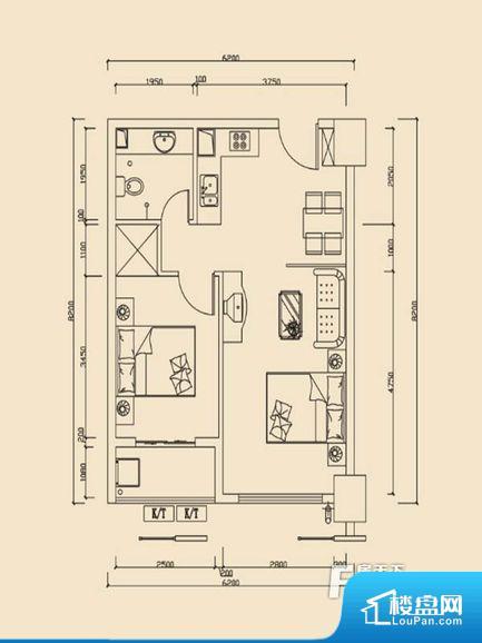 凯通国际城Ⅱ期凯通中心户型图