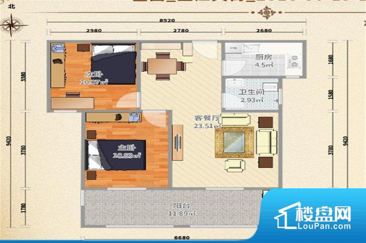 各个空间方正,后期空间利用率高。整个空间采光很好,主卧和客厅均能够保证很好的采光;并且能真正做到全明通透,整个空间空气好。卧室门朝向比较吵闹的区域,不利于主人休息。卫生间朝向客厅私密性较差,卫生间朝向餐厅产生的气味及细菌对餐厅影响较大,卫生间朝向卧室,产生的气味对卧室有影响。