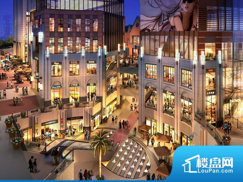 二期东广场夜景鸟瞰