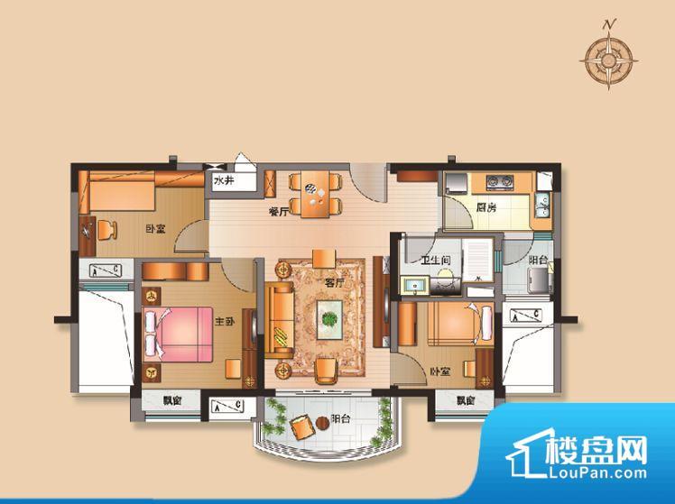 各个空间都很方正,方便后期家具的摆放。不通风,南方会非常潮湿,特别是在雨季。而北方干燥会加重干燥的情况。主人去卫生间要传堂入室,整个动线过长,使用起来不方便。客厅、卧室、卫生间和厨房等主要功能间尺寸以及比例合适,方便采光、通风,后期居住方便。公摊相对合理,一般房子公摊基本都在此范畴。日常使用基本满足。