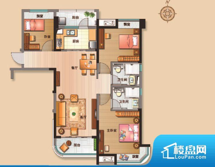 各个空间方正,后期空间利用率高。全明通透的户型,居住舒适度较高。整个空间有充足的采光,这一点对于后期居住,尤其重要。主人去卫生间要传堂入室,整个动线过长,使用起来不方便。厨房门朝向,做饭产生油烟和噪音对客厅有影响。卧室作为较为重要的休息空间,尺寸合适,有利于主人更好的休息;客厅作为重要的会客空间,尺寸合适,能够保证主人会客需求。卫生间和厨房作为重要的功能区间,尺寸合适,能够很好的满足主人生活需求。