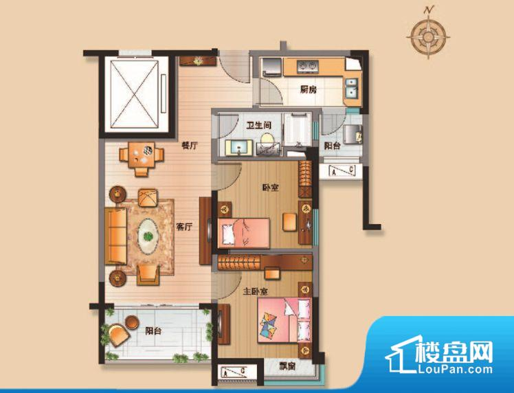各个空间方正,后期空间利用率高。整个空间采光很好,主卧和客厅均能够保证很好的采光;并且能真正做到全明通透,整个空间空气好。卫生间作为重要的空间,距离较远,不方便主人使用。卧室作为较为重要的休息空间,尺寸合适,有利于主人更好的休息;客厅作为重要的会客空间,尺寸合适,能够保证主人会客需求。卫生间和厨房作为重要的功能区间,尺寸合适,能够很好的满足主人生活需求。公摊相对合理,一般房子公摊基本都在此范畴。日