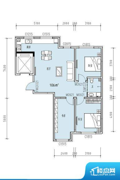 各个空间都很方正,方便后期家具的摆放。卫生间无对外窗户,采光不好,不利于后期使用过程中的排风透气。厨房在整个空间比较深的位置,一方面使用不便,另一方面使用时油烟对整个家里的空气影响较大客厅、卧室、卫生间和厨房等主要功能间尺寸以及比例合适,方便采光、通风,后期居住方便。