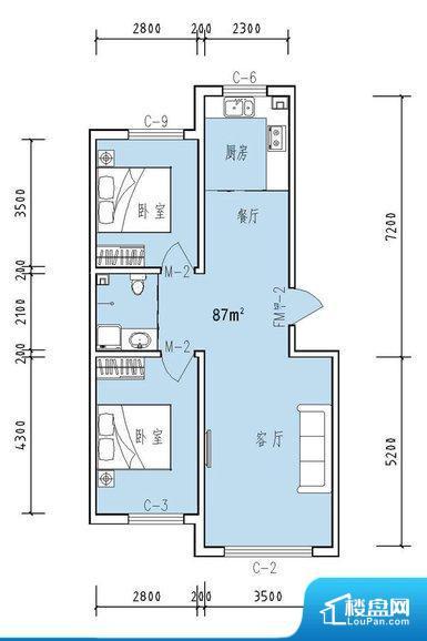 各个空间方正,后期空间利用率高。无对外窗户,通风采光较差,卫生间湿气会加重,不利于身体健康。厨房门朝向,做饭产生油烟和噪音对客厅有影响。客厅、卧室、卫生间和厨房等主要功能间尺寸以及比例合适,方便采光、通风,后期居住方便。