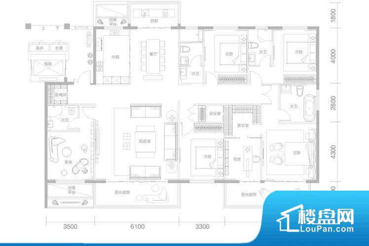 各个空间方正,后期空间利用率高。整个空间采光很好,主卧和客厅均能够保证很好的采光;并且能真正做到全明通透,整个空间空气好。厨卫等重要的使用较为频繁的空间布局合理,方便使用,并且能够保证整个空间的空气质量。各个功能区间面积大小都比较合理,后期使用起来比较方便,居住舒适度高。