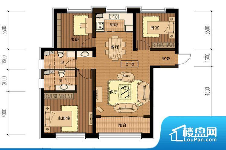 E-5三室两厅两卫126平
