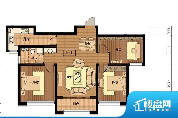 F-1三室两厅一卫112平