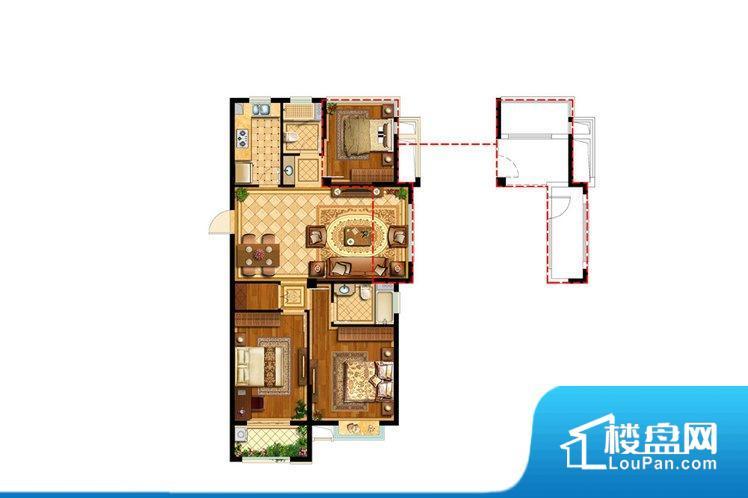 各个空间方正,后期空间利用率高。全明户型,每一个空间都带有窗户,保证后期居住时能够充分采光和透气;通透户型,保证空气能够流通起来,空气质量较好;采光较好,保证居住舒适度。卧室门朝向客厅,外人可以一目了然的看到卧室,私密性较差。各个功能区间面积大小都比较合理,后期使用起来比较方便,居住舒适度高。公摊高于15%且低于25%,整体得房率不算太高。