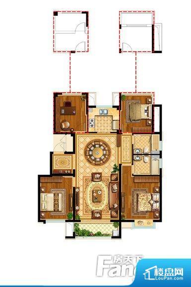 各个空间方正,后期空间利用率高。整个空间采光很好,主卧和客厅均能够保证很好的采光;并且能真正做到全明通透,整个空间空气好。卧室门朝向客厅,外人可以一目了然的看到卧室,私密性较差。卫生间对餐厅是不太卫生,而且又会有细菌。对着客厅也不太好,有种不太礼貌的感觉。如此感觉户型设计上有硬伤。各个功能区间面积大小都比较合理,后期使用起来比较方便,居住舒适度高。公摊高于15%且低于25%,整体得房率不算太高。