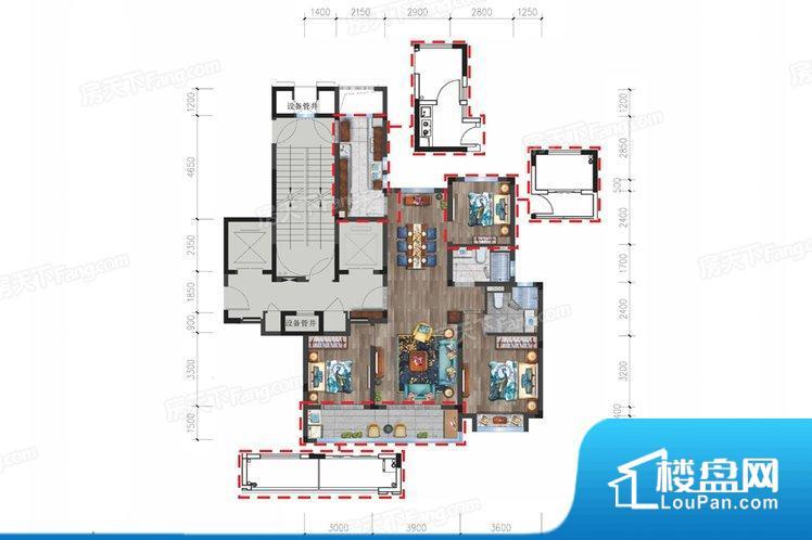 各个空间都很方正,方便后期家具的摆放。全明户型,每一个空间都带有窗户,保证后期居住时能够充分采光和透气;通透户型,保证空气能够流通起来,空气质量较好;采光较好,保证居住舒适度。卧室是休息的地方,需要安静,如果距离客厅和餐厅会有噪音,影响休息。时间长,主人容易神经衰弱。客厅、卧室、卫生间和厨房等主要功能间尺寸以及比例合适,方便采光、通风,后期居住方便。