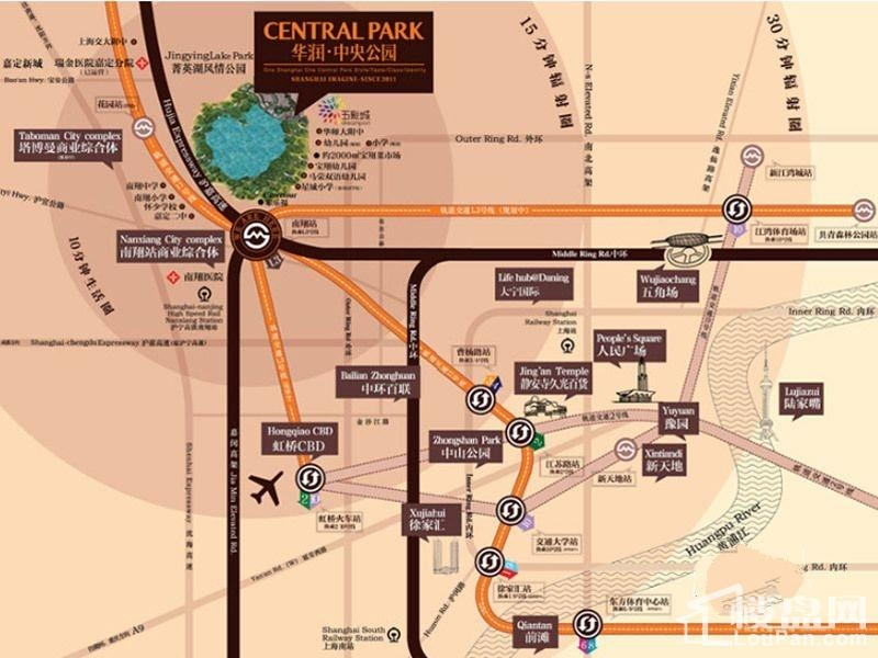 华润中央公园位置图