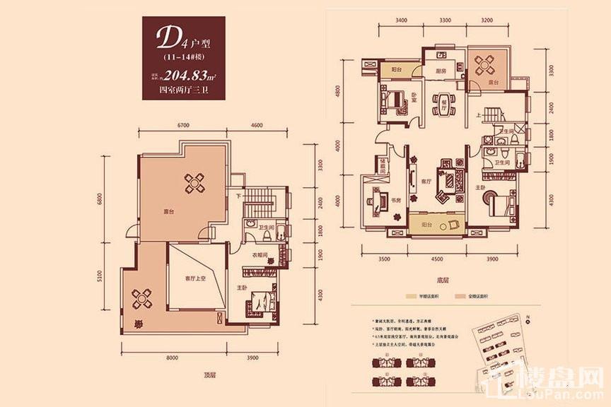 11-14#洋房D4户型