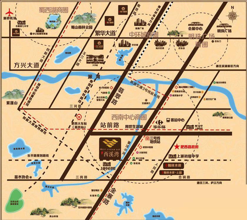 文一西溪湾位置图