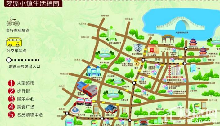 圣联梦溪小镇配套图