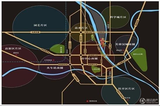 东原番玖台商业街 位置图