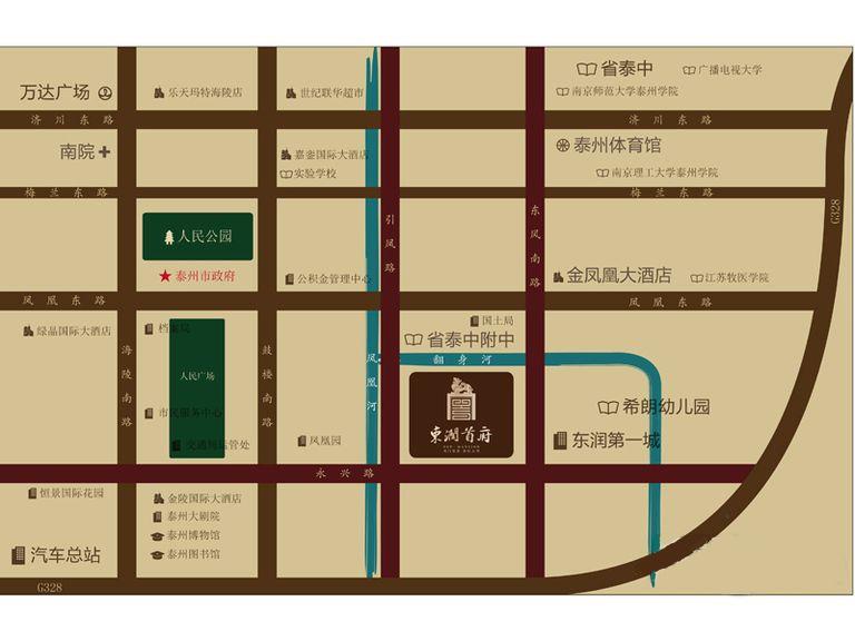 东润首府位置图