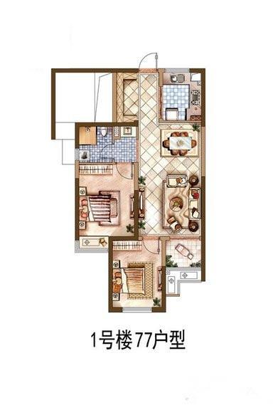 77平户型(平面)