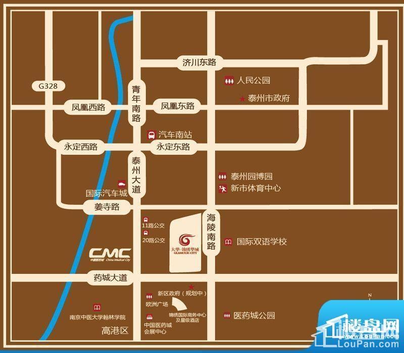 大华·锦绣华城位置图