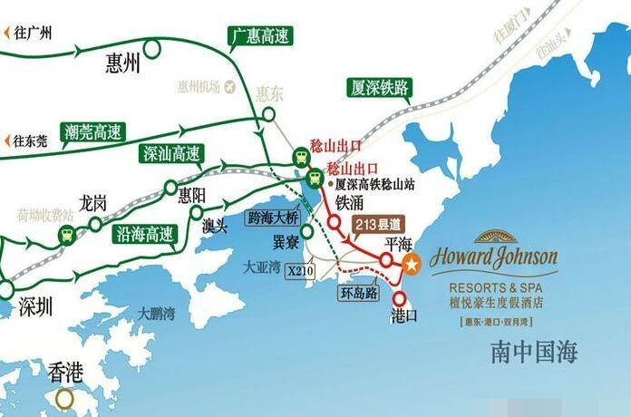 檀悦豪生度假酒店位置图