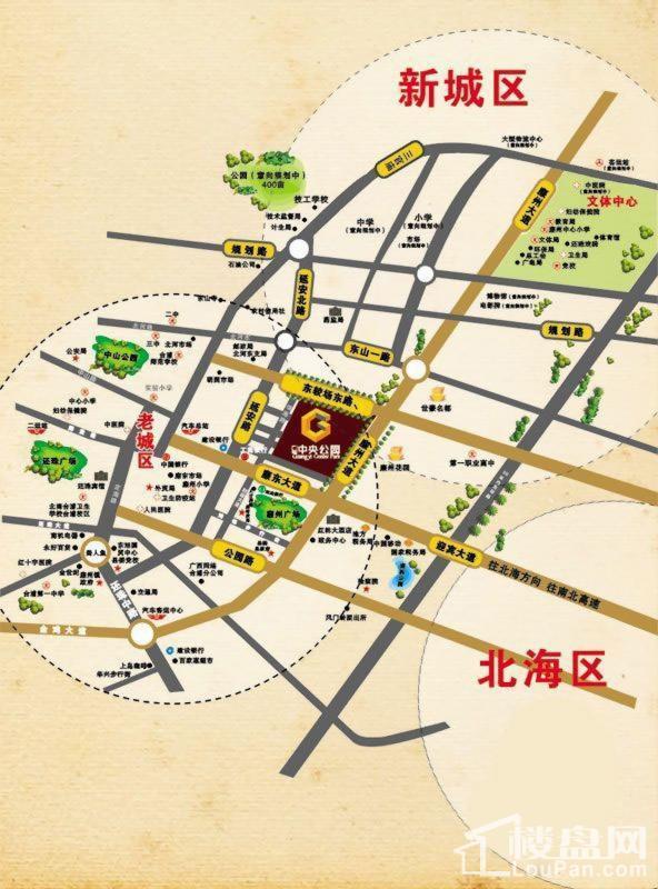 广益·中央公园位置图