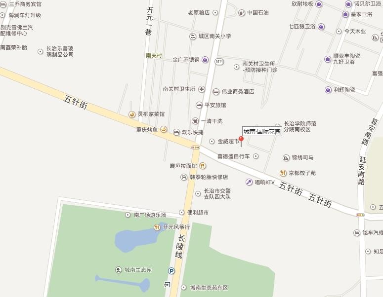 城南国际花园位置图