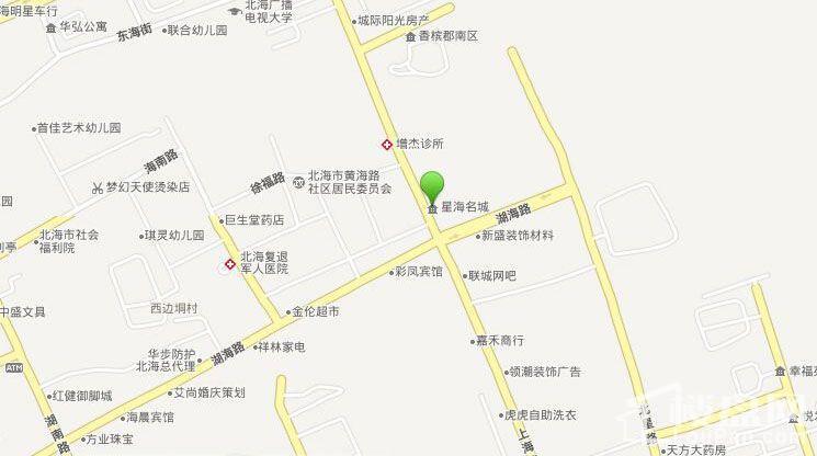 永高·星海名城二期位置图