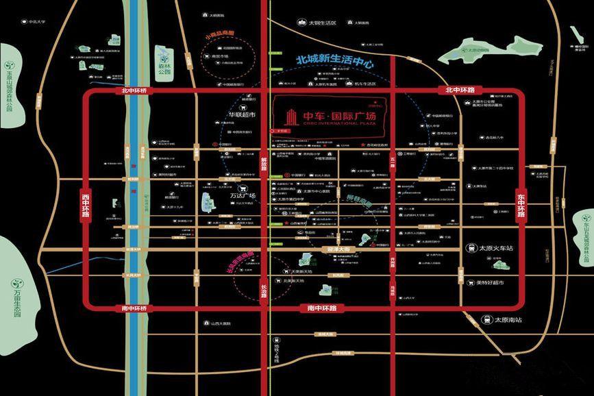 中车·国际广场位置图