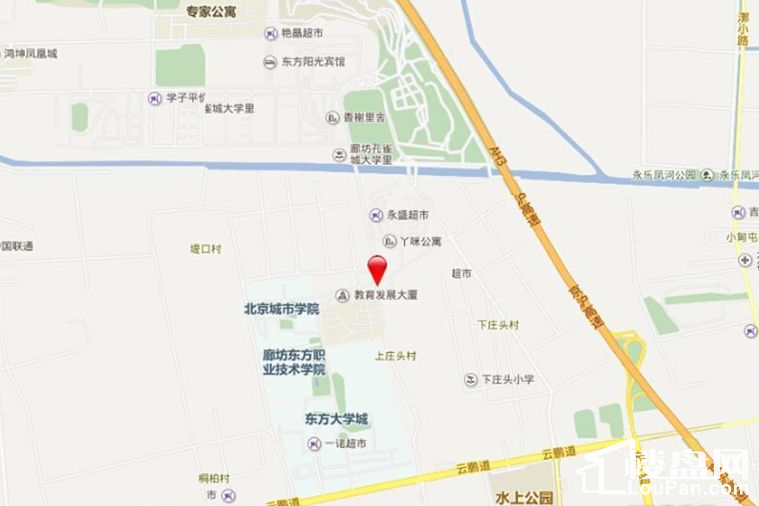 荣盛阿尔卡迪亚永清花语城位置图