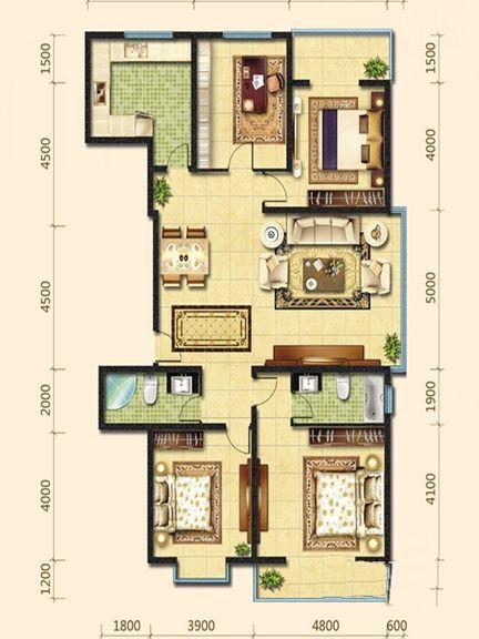 鸿昇·大城小院户型图