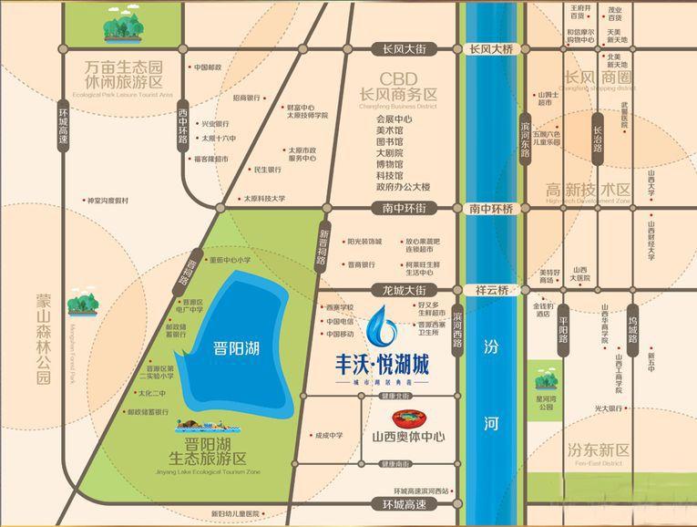 丰沃·悦湖城位置图
