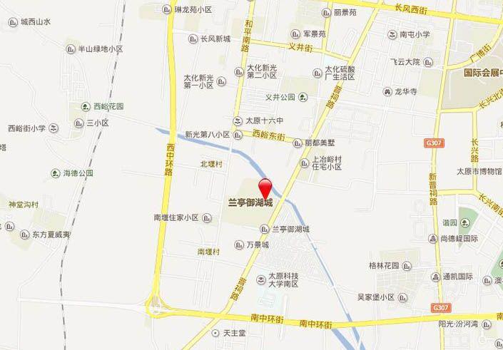 兰亭·御湖城位置图